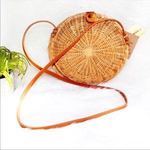 NWT Straw Round crossbody Shoulder HandCrafted Bag